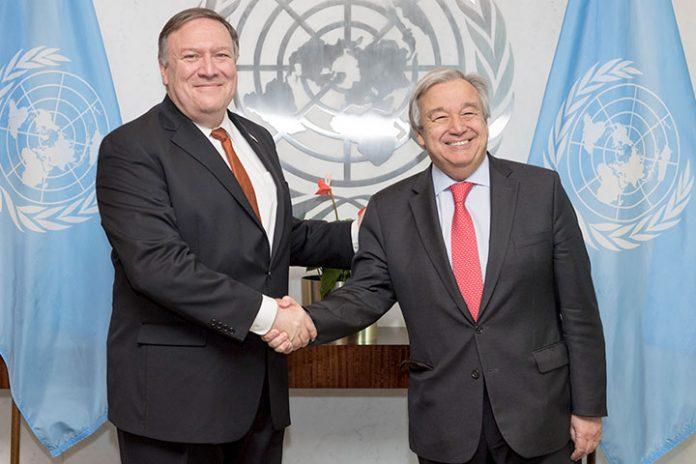 Mike Pompeo y António Guterres