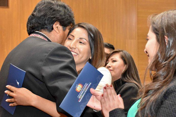 Evo Morales y Evaliz