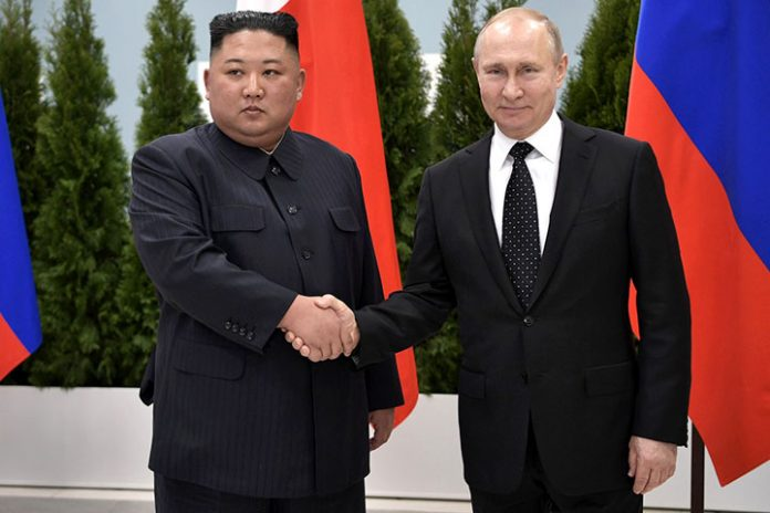 Kim Jong un y Vladímir Putin