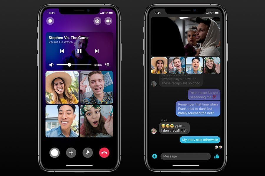 Watching video together Messenger