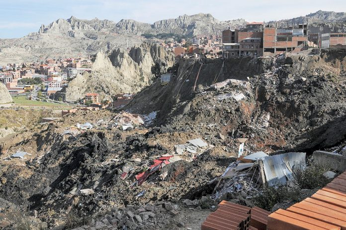 deslizamiento La Paz