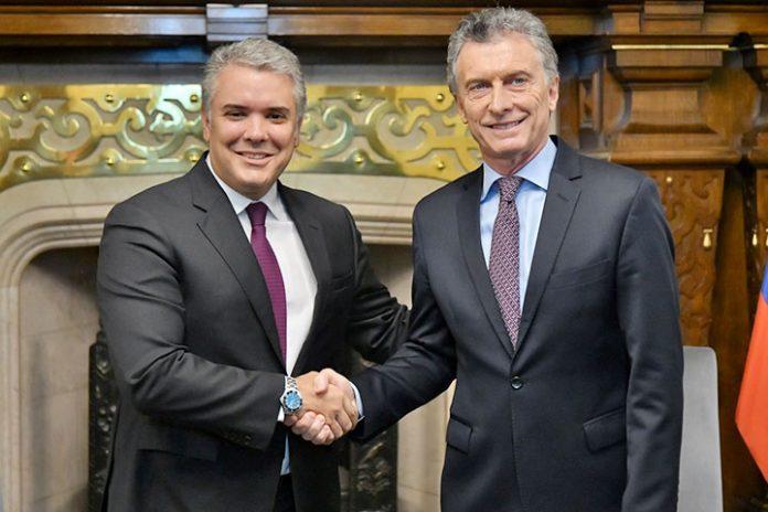 Iván Duque y Mauricio Macri