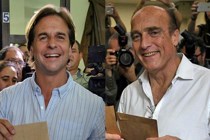 Daniel Martínez y Luis Lacalle Pou