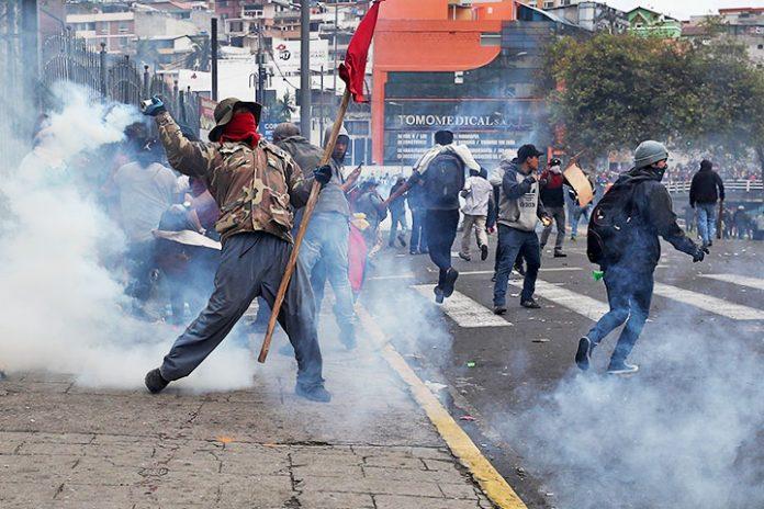 Manifestantes Quito