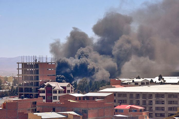 incendio Aduana Nacional