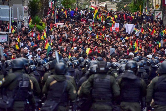 marcha en defensa de la democracia