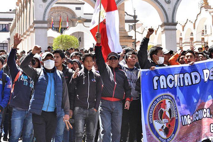 marchas y bloqueo Potosí
