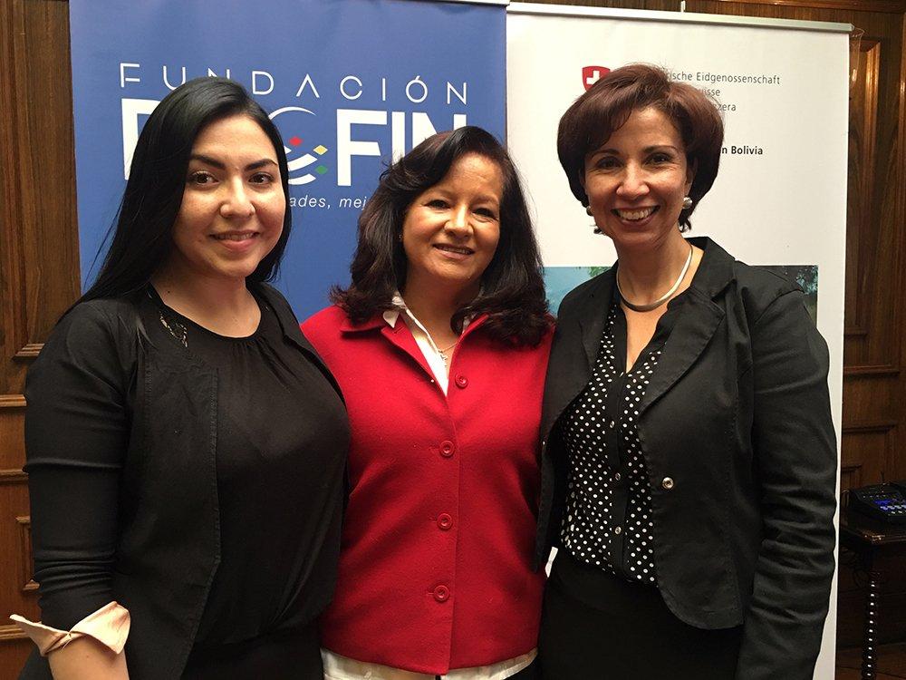 Andrea Fossati Ericka Pacheco y Ximena Jáuregui