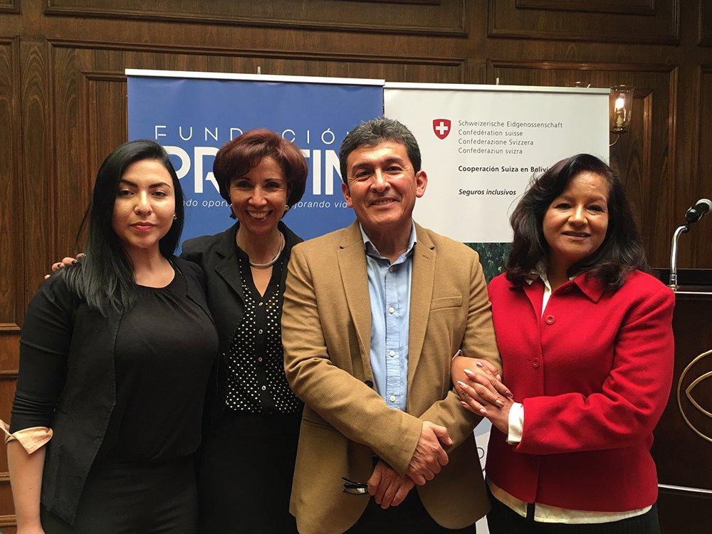 Andrea Fossati Ximena Jáuregui Edwin Vargas y Ericka Pacheco
