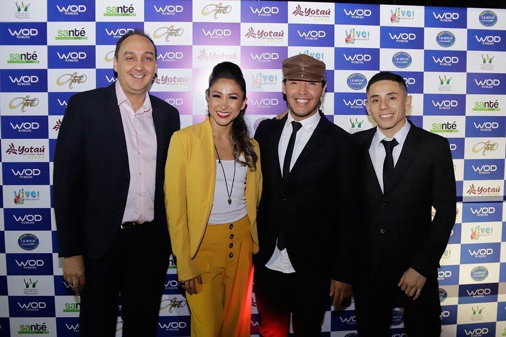 Daniel Munckel Dir. Marketing María Avilés Ceo Ritchard Viruéz Dir. Vive Company y Edin Justiniano coordinador Wod Bolivia