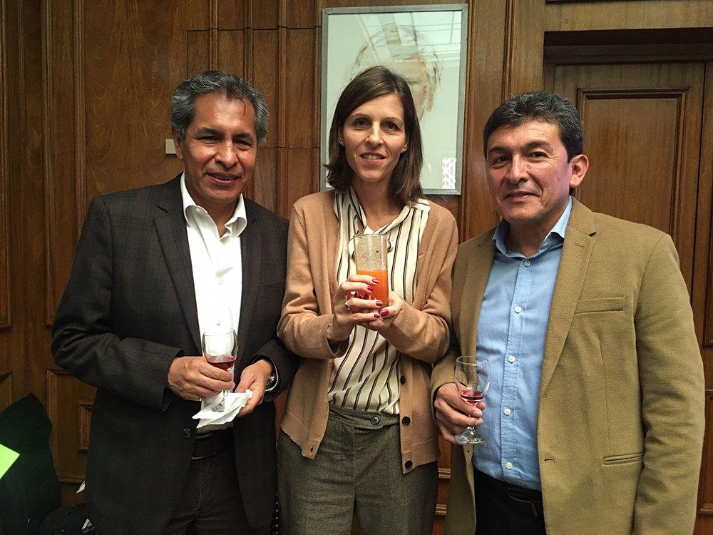 José Luis Pereyra Sophie Delessert y Edwin Vargas