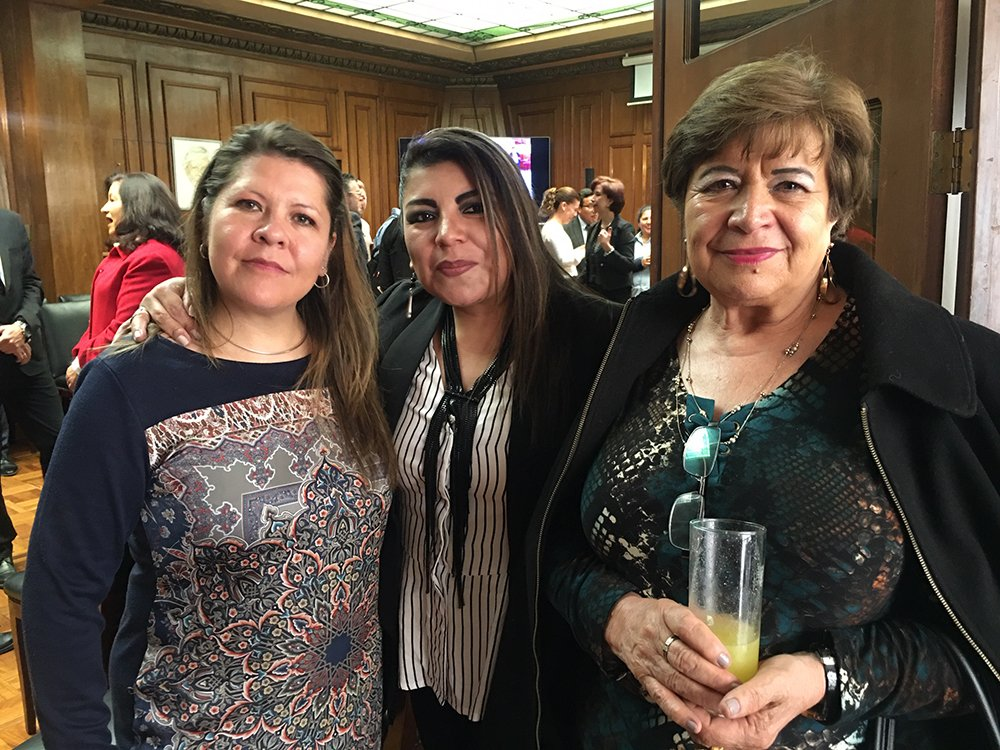Mónica Baldivia Carla Guzmán y Mirian Von Boeck