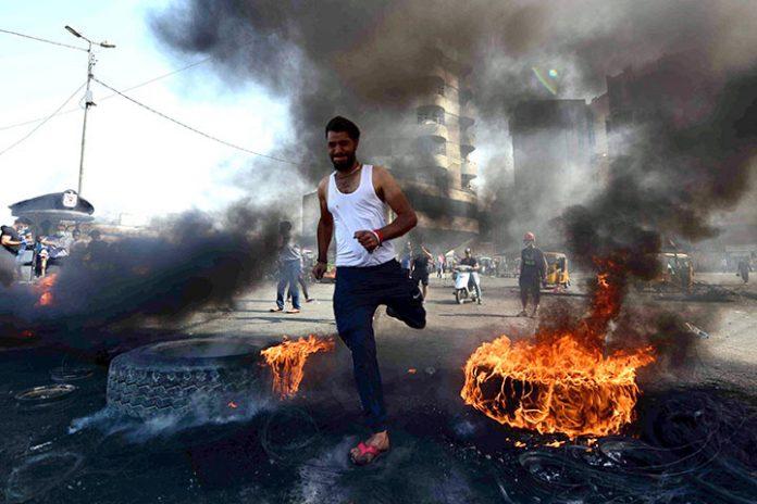 manifestación Bagdad