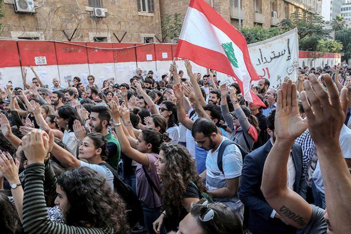 manifestaciones Beirut