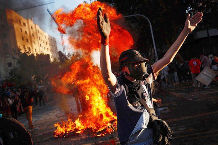 protestas Santiago