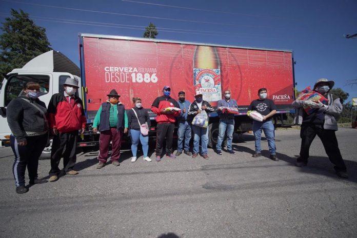 CBN dona ocho toneladas más de alimentos a las familias cochabamba