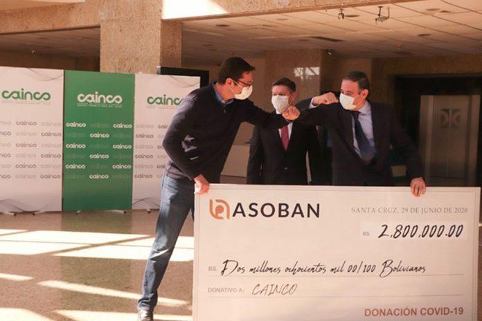 """ASOBAN realizó una donación de 28 millones de bolivianos para la campaña """"Demos de Corazón"""""""