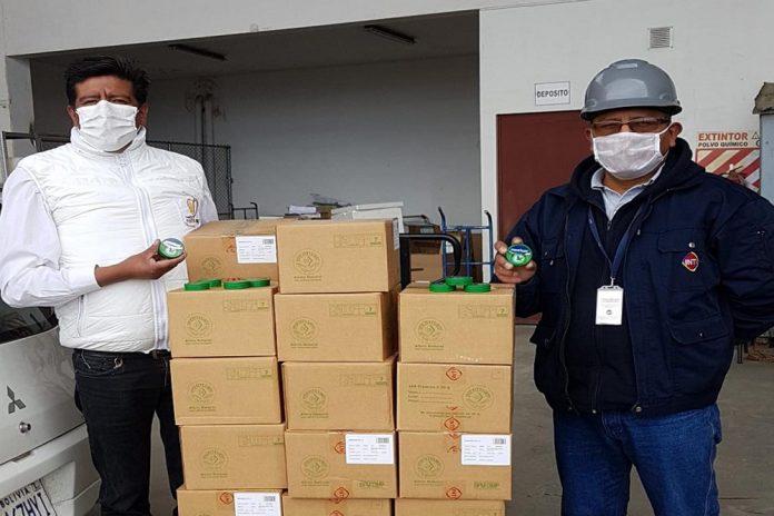 Inti donó más de medio millón de bolivianos para la mitigación del COVID