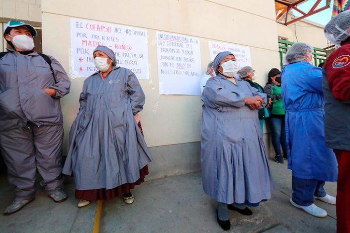 Personal sanitario del hospital Los Andes