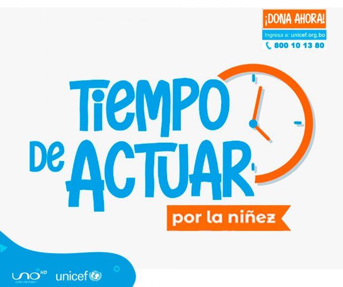 Unicef y Red Uno se unen en la campaña Tiempo de actuar