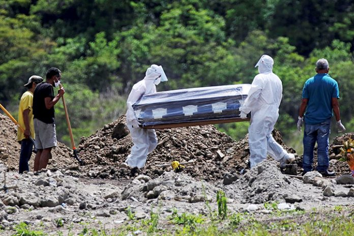 funeral por coronavirus en Honduras