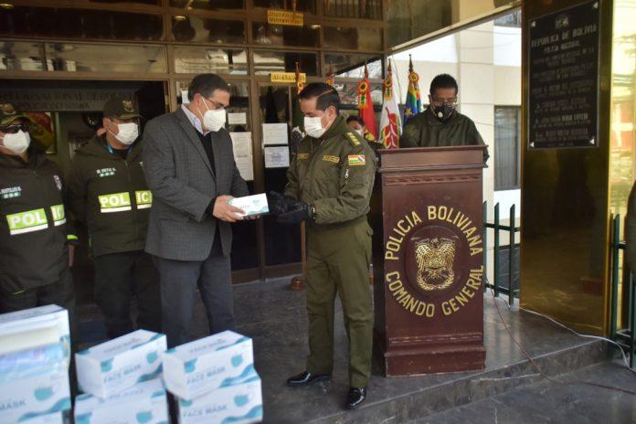 Cervecería Boliviana Nacional CBN dona 60.600 barbijos a la Policía Boliviana y a las Fuerzas Armadas