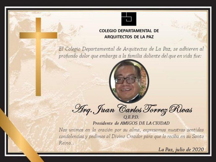 Juan Carlos Torrez Rivas Colegio Departamental de Arquitectos de La Paz