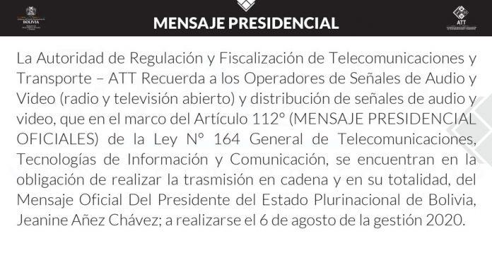 ATT Mensaje Presidencial
