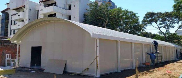 Construccion del 'Domo en el Hospital Oncologico