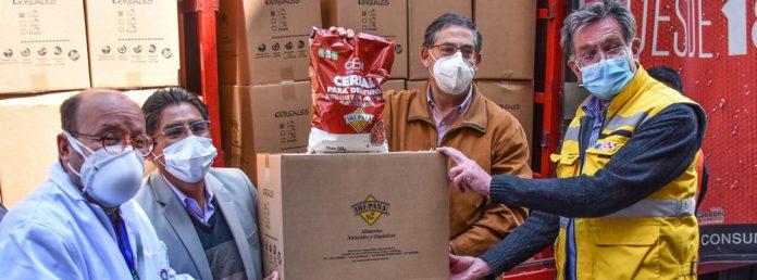 En alianza con la empresa boliviana Irupana CBN producira Cereal para distribuir al personal que trabaja en primera linea y comunidades.