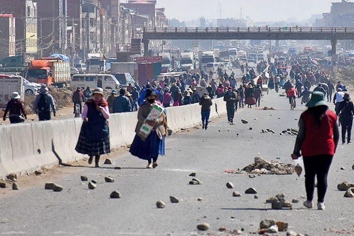bloqueos El Alto