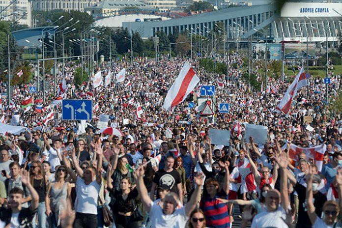 manifestacion en Minsk