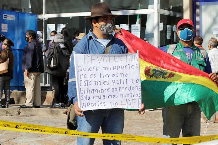protestas devolucion fondos de pensiones