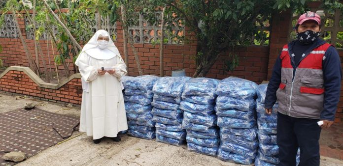 Donacion al Hogar de Ancianos Hermanitas Desamparadas Santa Cruz