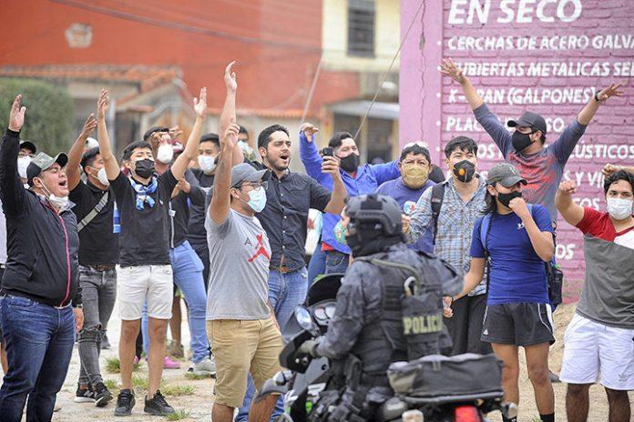 amague de enfrentamientos Santa Cruz