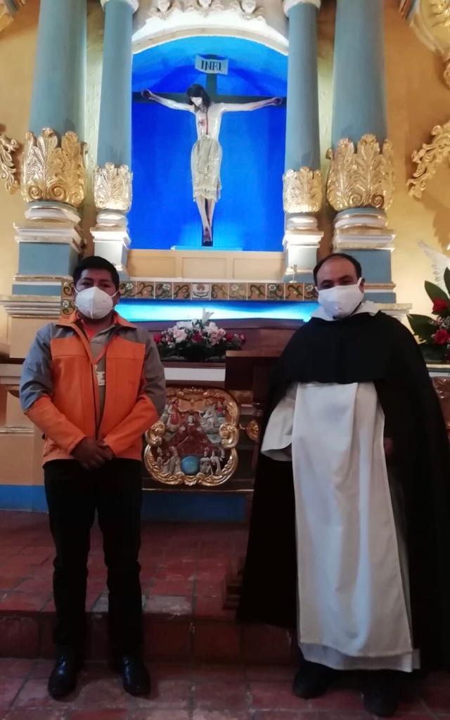 Jefe de Creditos Sucursal Potosi Ecofuturo Ausberto Coro Quentasi y Padre Henrry Tapia