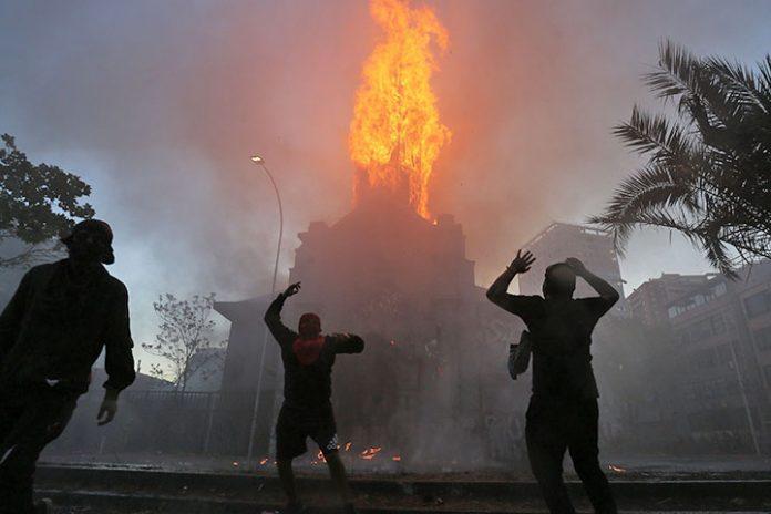 incendio Iglesia de La Asuncion