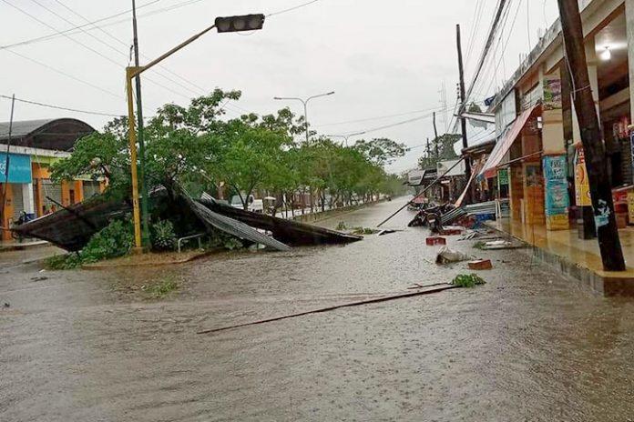 vientos huracanados y granizo Trinidad