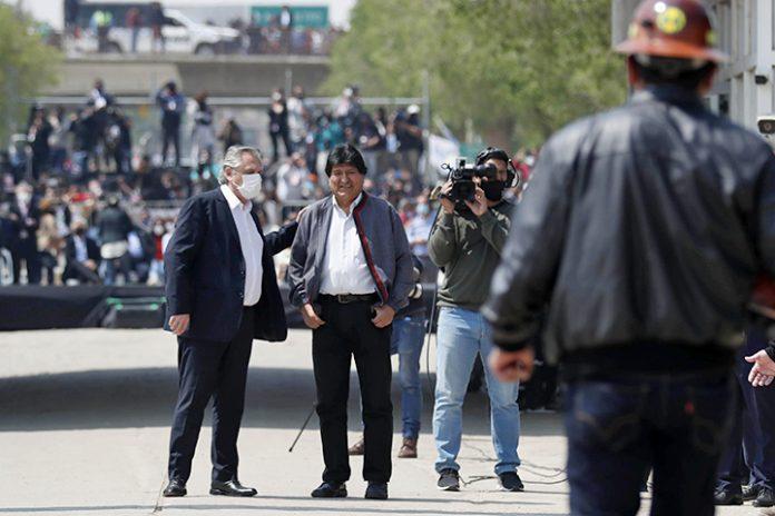 Alberto Fernandez y Evo Morales