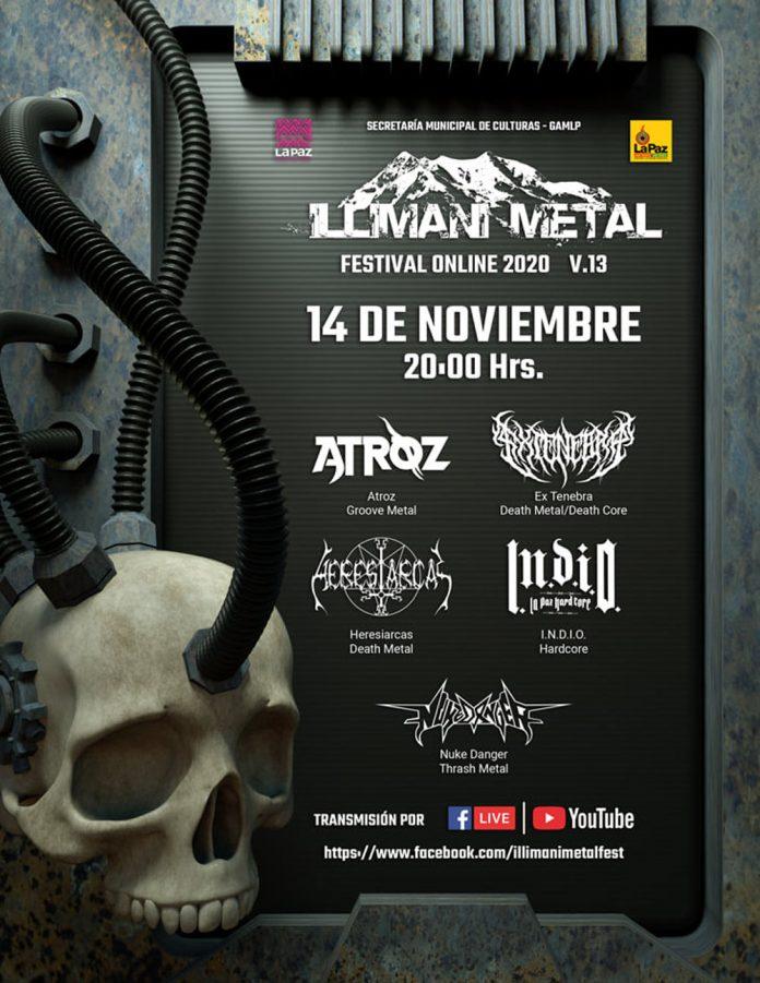 Cinco bandas seran parte del Illimani Metal que se desarrollara de manera virtual