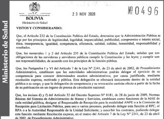 Ministerio de Salud - Resolución Ministerial Nº 0496