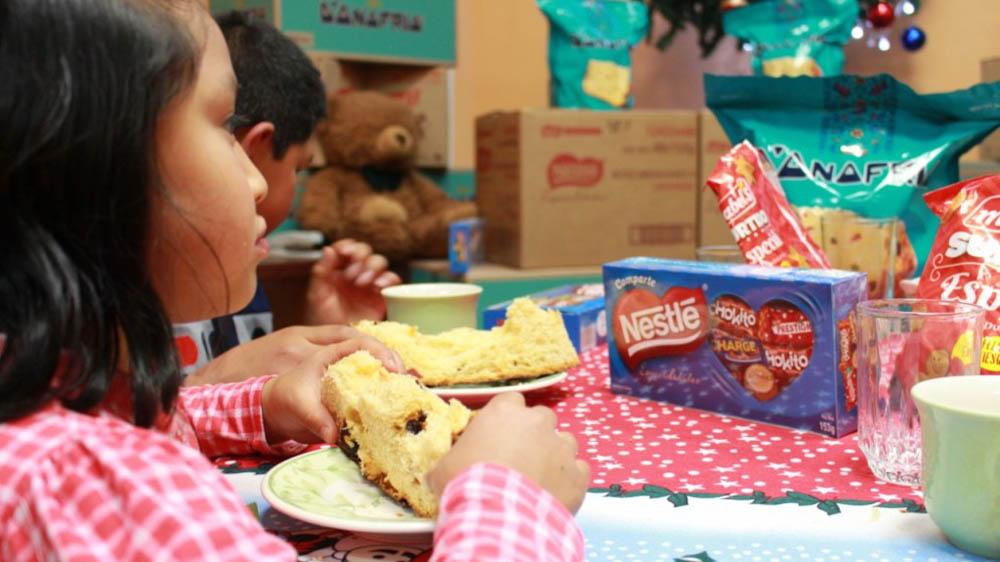 Nestle y Mabel´s llegaron a mas de 640 personas entre ninas ninos y adultos mayores