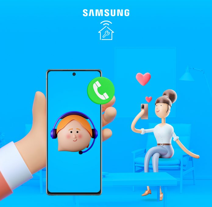 Samsung ofrece servicio remoto para asistir a sus clientes sin salir de casa