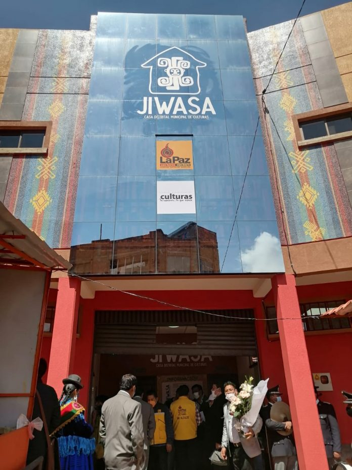 Se reinaugura la Casa Distrital Jiwasa de la zona Bajo Tejar