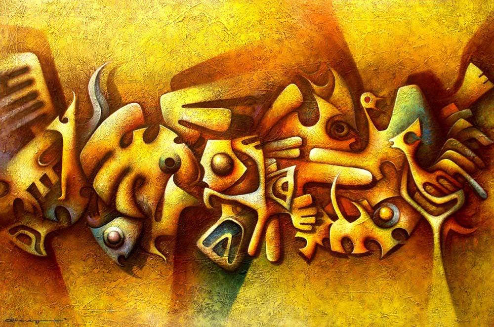 Titulo Rituales 120x80 oleo sobre tela