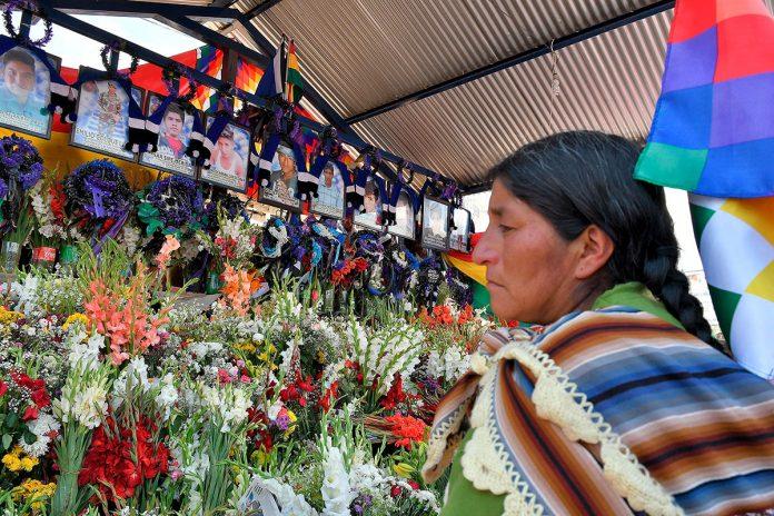 familiares de las víctimas en Sacaba
