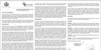 AFCCOP - Resolución Administrativa N° 41/2020
