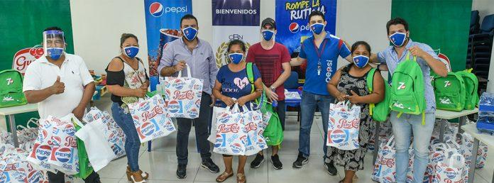 CBN a traves de Pepsi entrega items de bioseguridad para tiendas en Santa Cruz