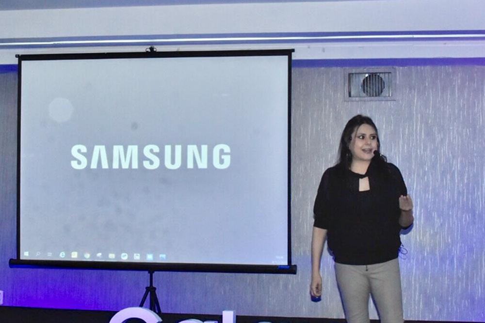 Carolina Zamora gerente Nacional de Marketing en Samsung Bolivia.