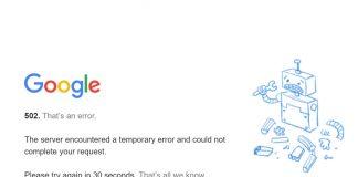Google caída servicio